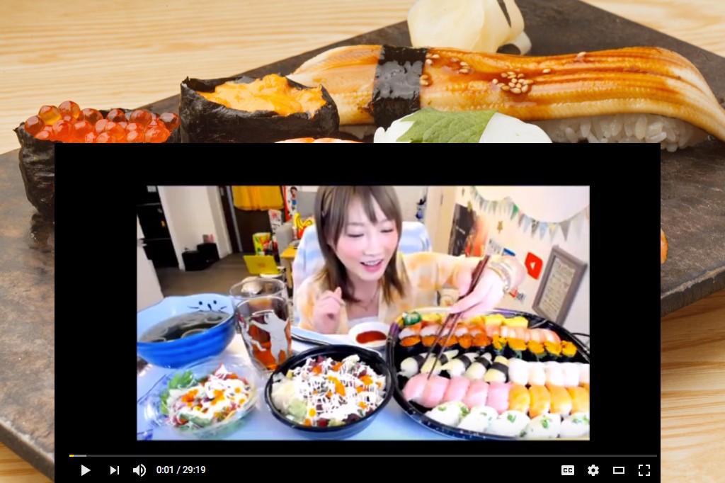 Thánh ăn Yuka –  Ăn sạch nồi Sushi và Sashimi – không thể tin nổi