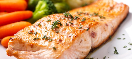 Grilled Salmon with Butter and Garlic